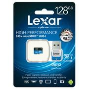 Lexar High Performance - Flash memory card - 128 GB - UHS Class 1 / Class10 - 633x - microSDXC UHS-I
