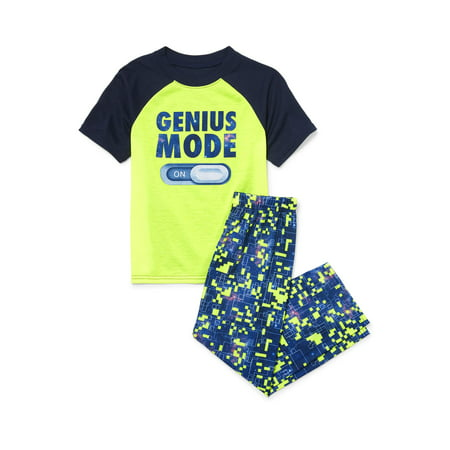 (The Children's Place Short Sleeve 'Genius Mode' Pajama 2 Piece Pant Set (Little Boys & Big Boys))