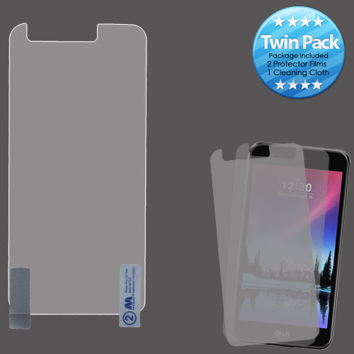 For LG K20 / Harmony / K10 Clear Screen Protector Film Cover Twin Pack