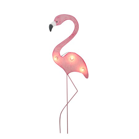 41 Tropical Lighted Pink Flamingo Outdoor Decoration