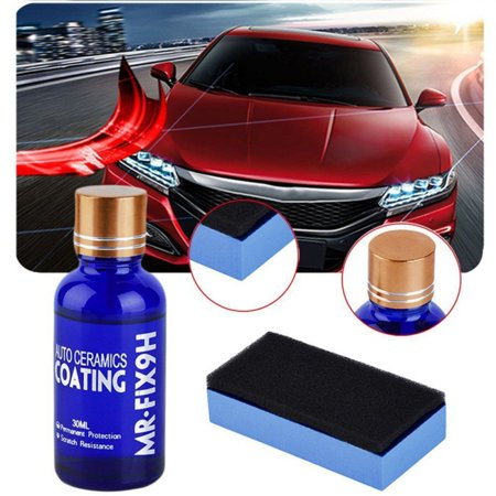 9H Ceramic Automotive Coating car kit, Anti Scratch Car Liquid Nano Ceramic Coating Paint Sealant Protection Super Hydrophobic Glass Coating