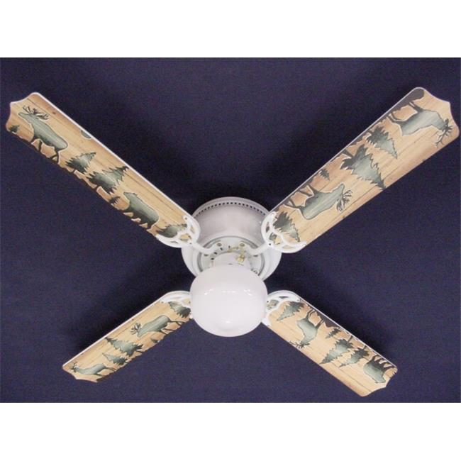 deer ceiling fan lodge style new bear moose deer ceiling fan 42apos 42aposapos walmartcom