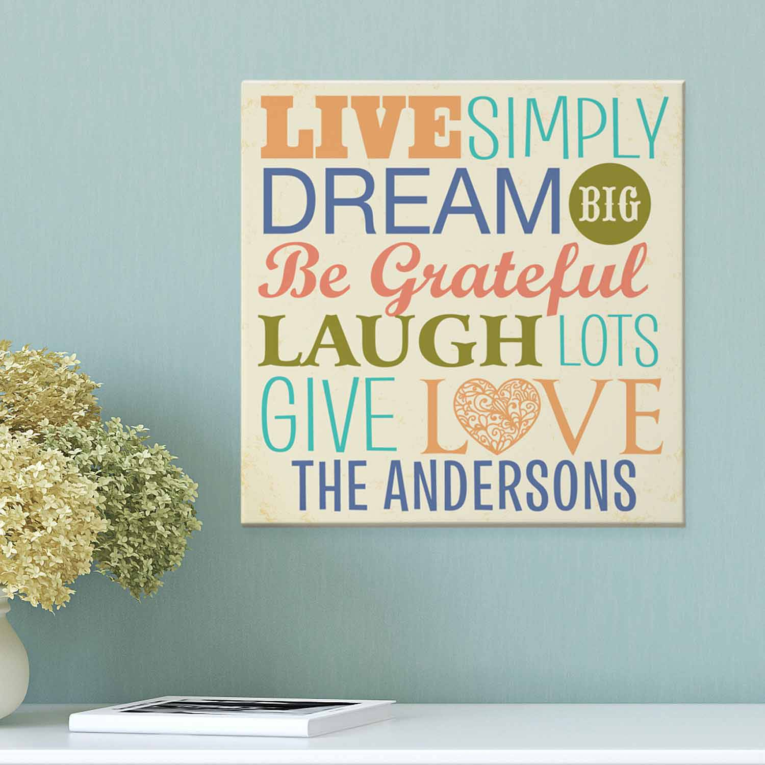 Personalized Live Simply Canvas