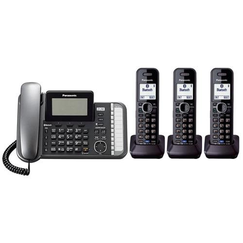 Panasonic KX-TG9582B + (1) KX-TGA950B 2 -Line Corded/Cordless Expandable Link2Cell Telephone System