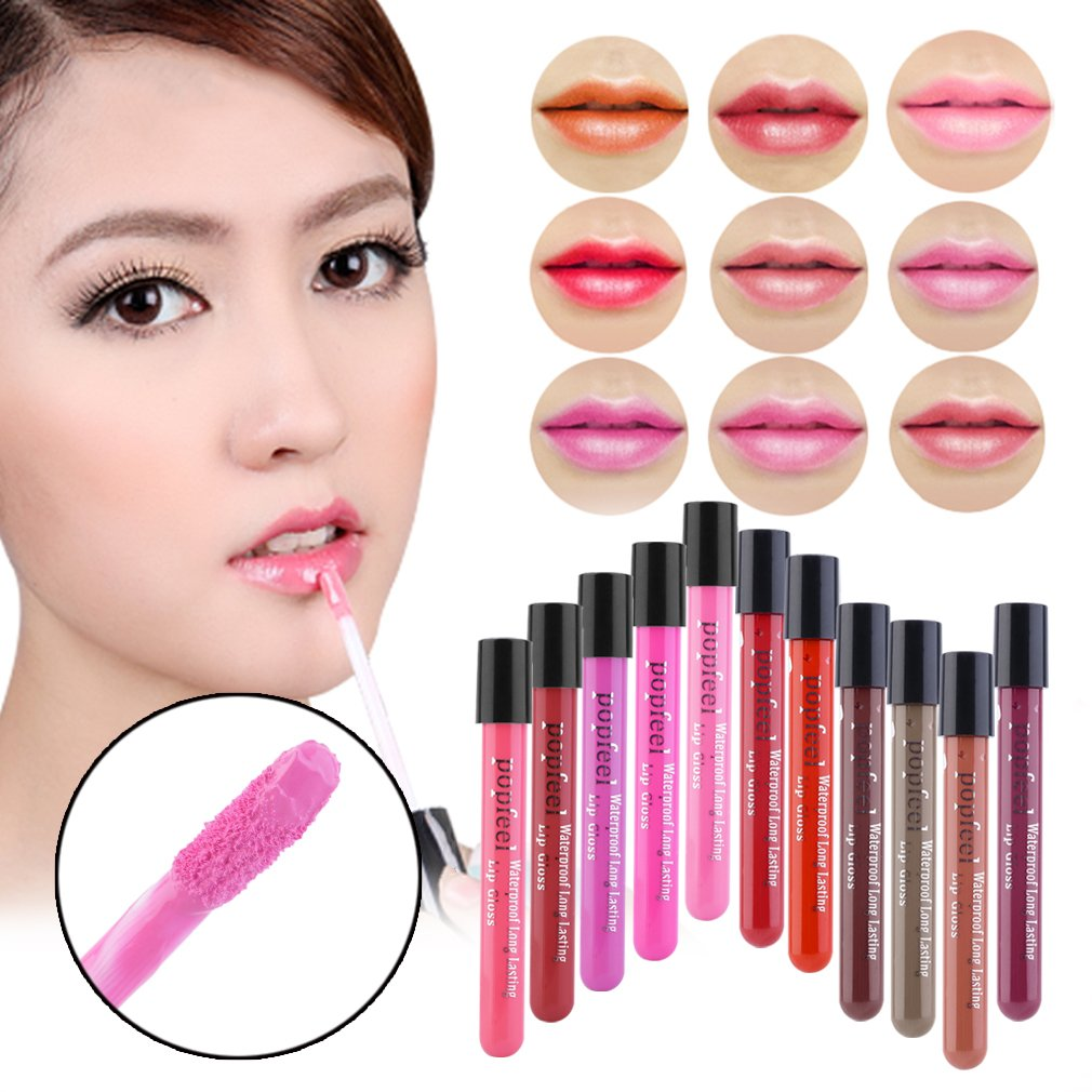 New Popular Lip Gloss Makeup Lip Matte Lipstick Super Long Lasting Liquid