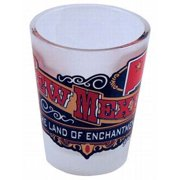 Jenkins New Mexico Frosted Shotglass- Banner (pack Of 96)