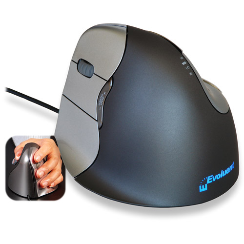 Evoluent VerticalMouse 4 USB Mouse, Left-Handed
