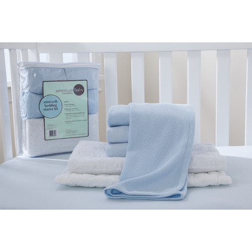 American Baby Company Portable Mini Starter 6 Piece Crib Bedding Set