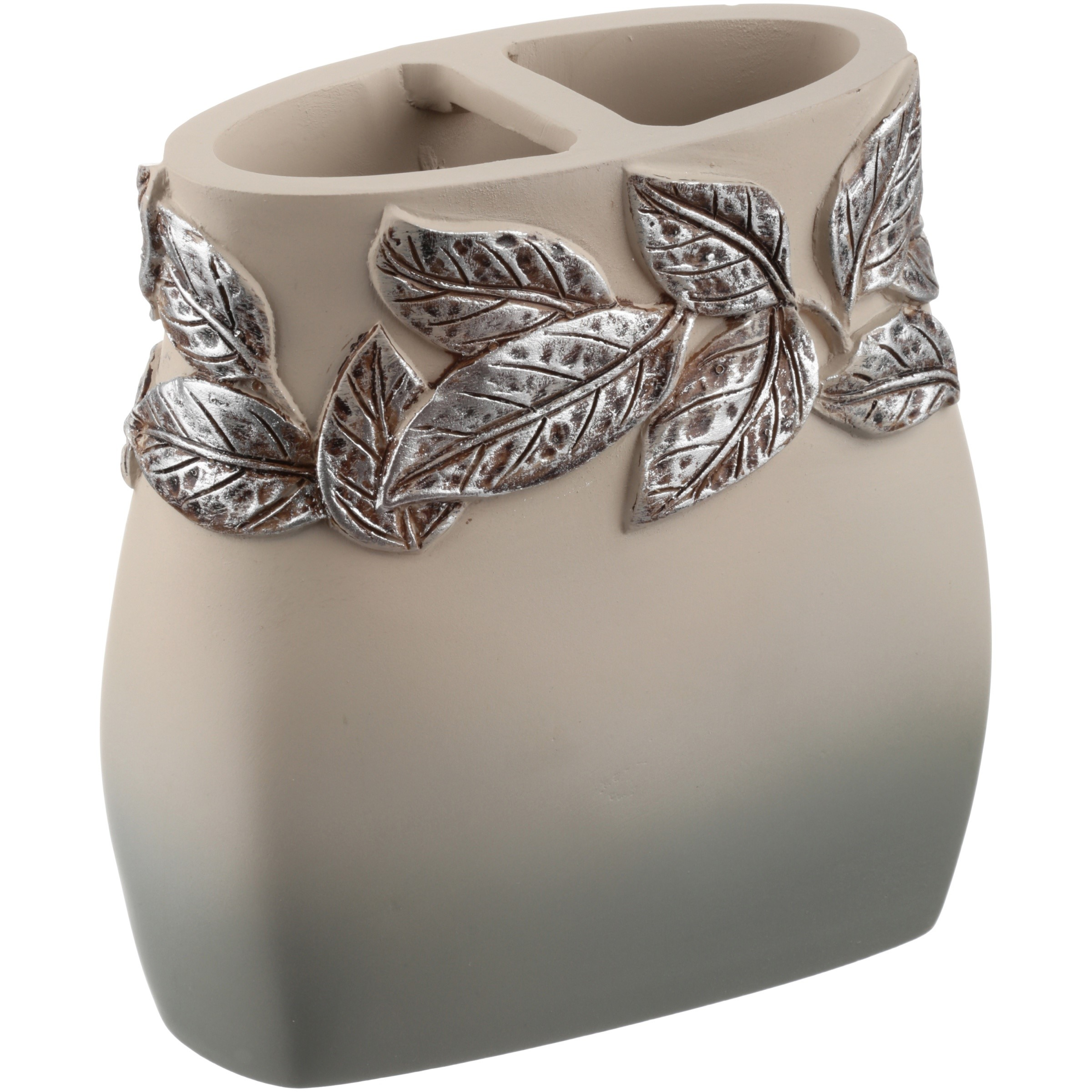 Mainstays™ Silver Leaves Toothbrush Holder