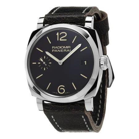 Panerai  Men's PAM00514 'Radiomir 1940 Acciaio' 3 Days Hand Wind Black Leather Watch ()