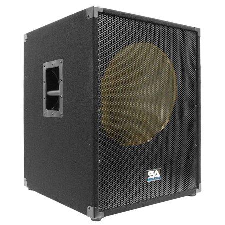 "Seismic Audio NEW EMPTY 18"" SUBWOOFER PA DJ PRO Audio Band Speaker - SAP-18SFFEmpty"
