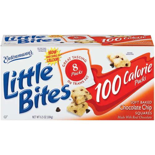 Entenmann's Little Bites: 100 Calorie Packs 8 Ct Chocolate Chip Squares, 6.50 oz