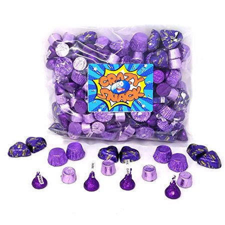 Purple Candy (Purple Candy Mix: Rolo, Reese's, Kisses, Hershey's Hearts, 2 pounds)