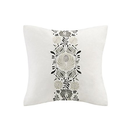 Echo Bedding Eo30 1694a Crete Square Pillow 18 X 18 White Walmart Canada