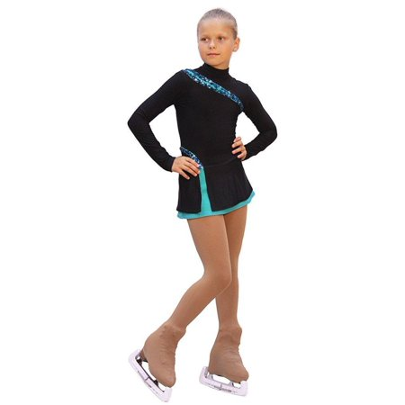 IceDress Figure Skating Dress - Lasso(Black with Mint) (Best Figure Skating Dresses)