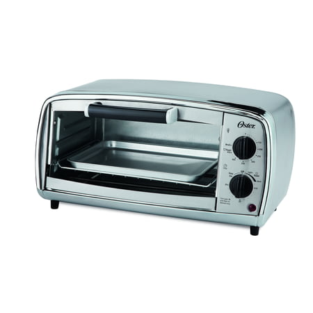 Oster 4-Slice Toaster Oven, Stainless Steel