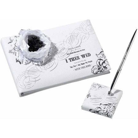 True Love Guest Book - Lillian Rose True Love Guest Book and Pen Set