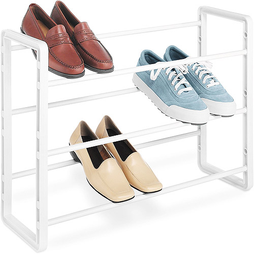 Whitmor Stackable Shoe Rack, White