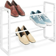 Whitmor Stackable Shoe Rack, White