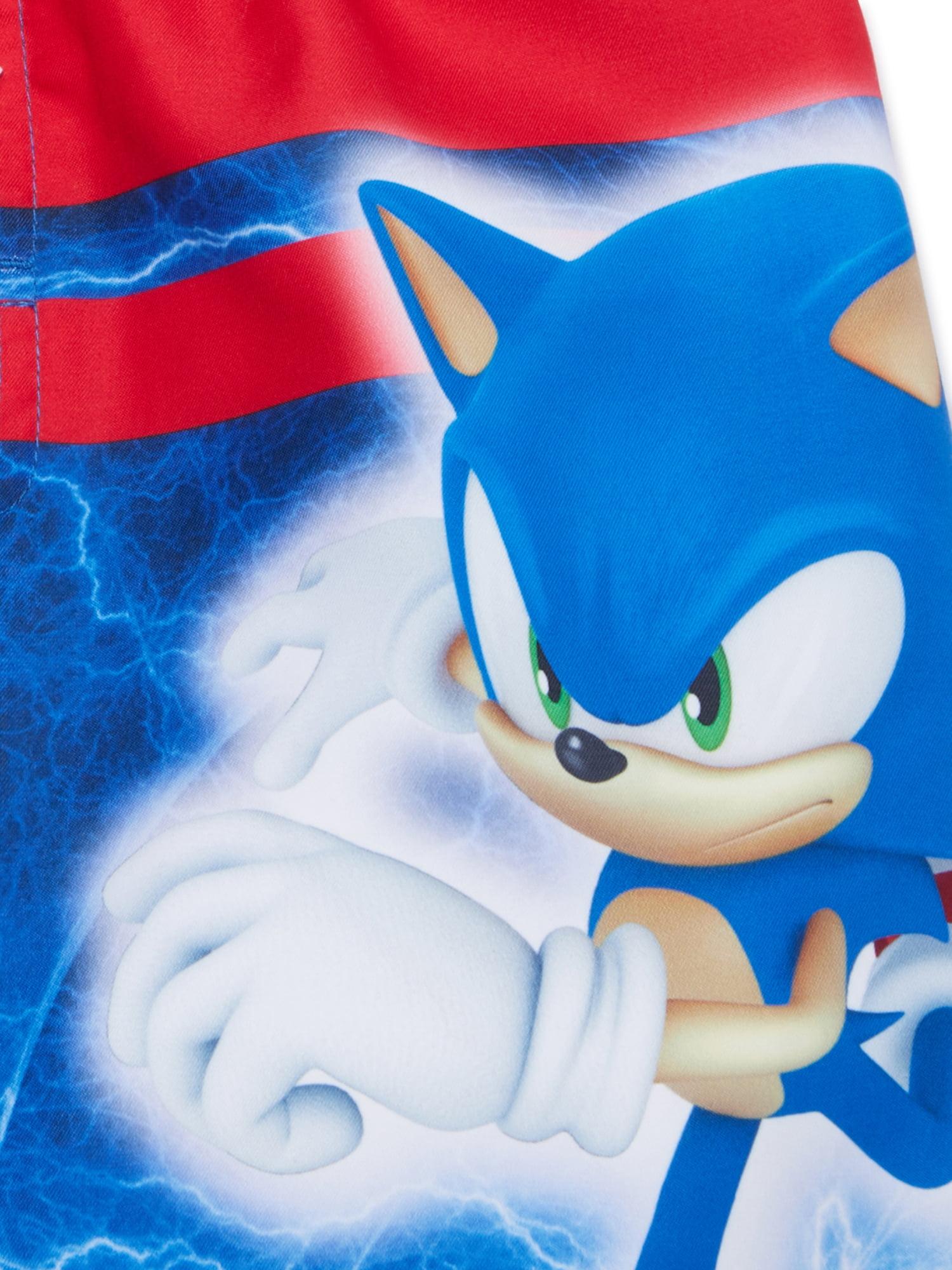 Sonic The Hedgehog Sonic The Hedgehog Boys 4 7 Swim Trunks Walmart Com Walmart Com