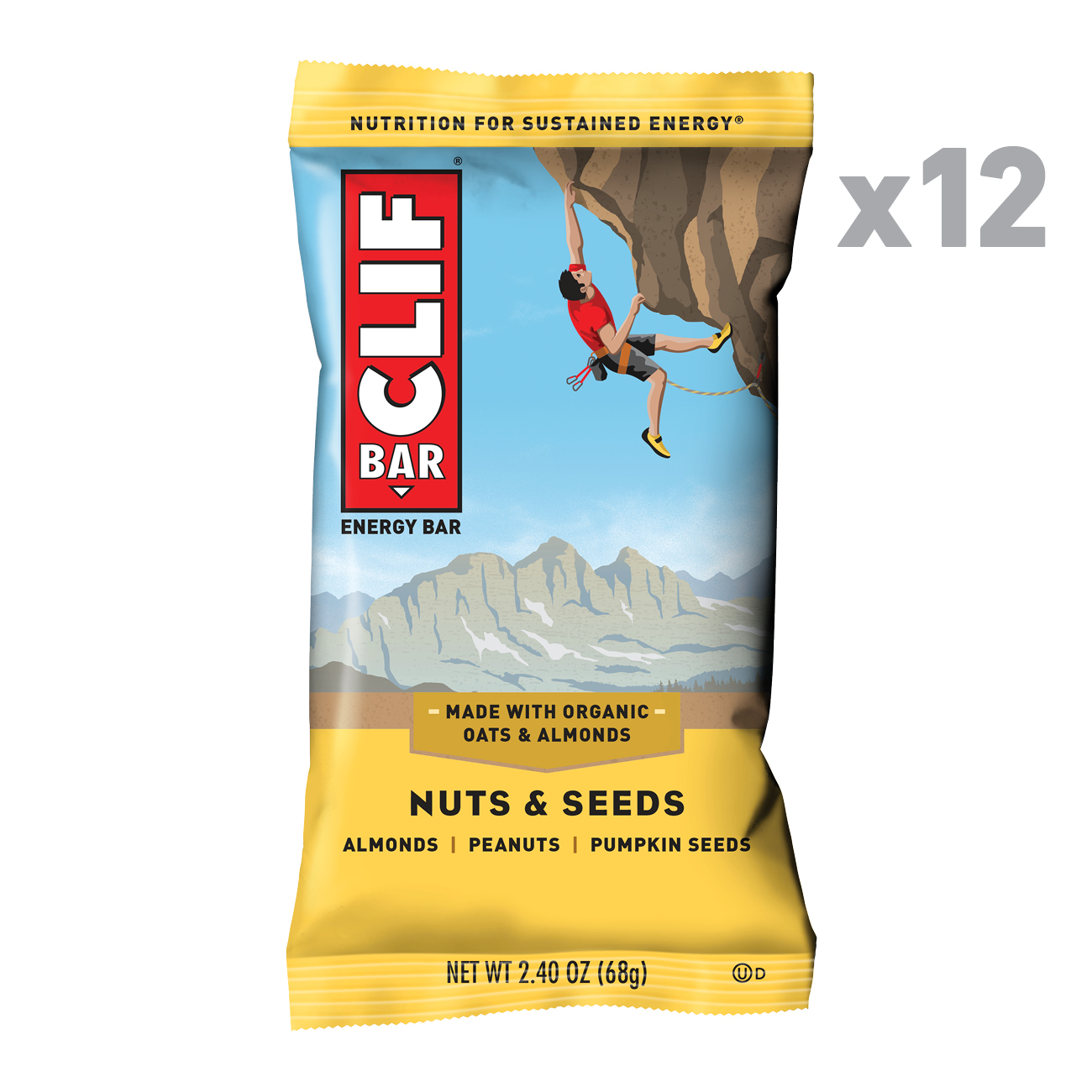 CLIF Bar® Nuts & Seeds Energy Bars, 2.4 Oz, 12 Ct
