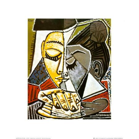 Tete d'une Femme Lisant Art Print  By Pablo Picasso
