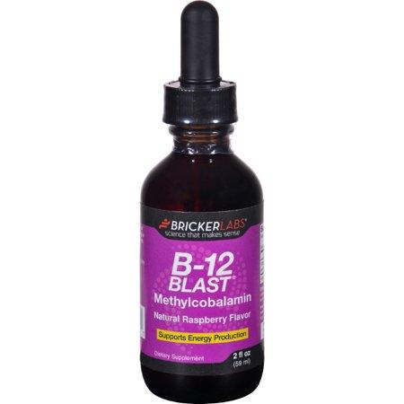 B-12 Blast Raspberry (Bricker Labs B-12 Blast - Methylcobalamin - Natural Raspberry - 2 oz )