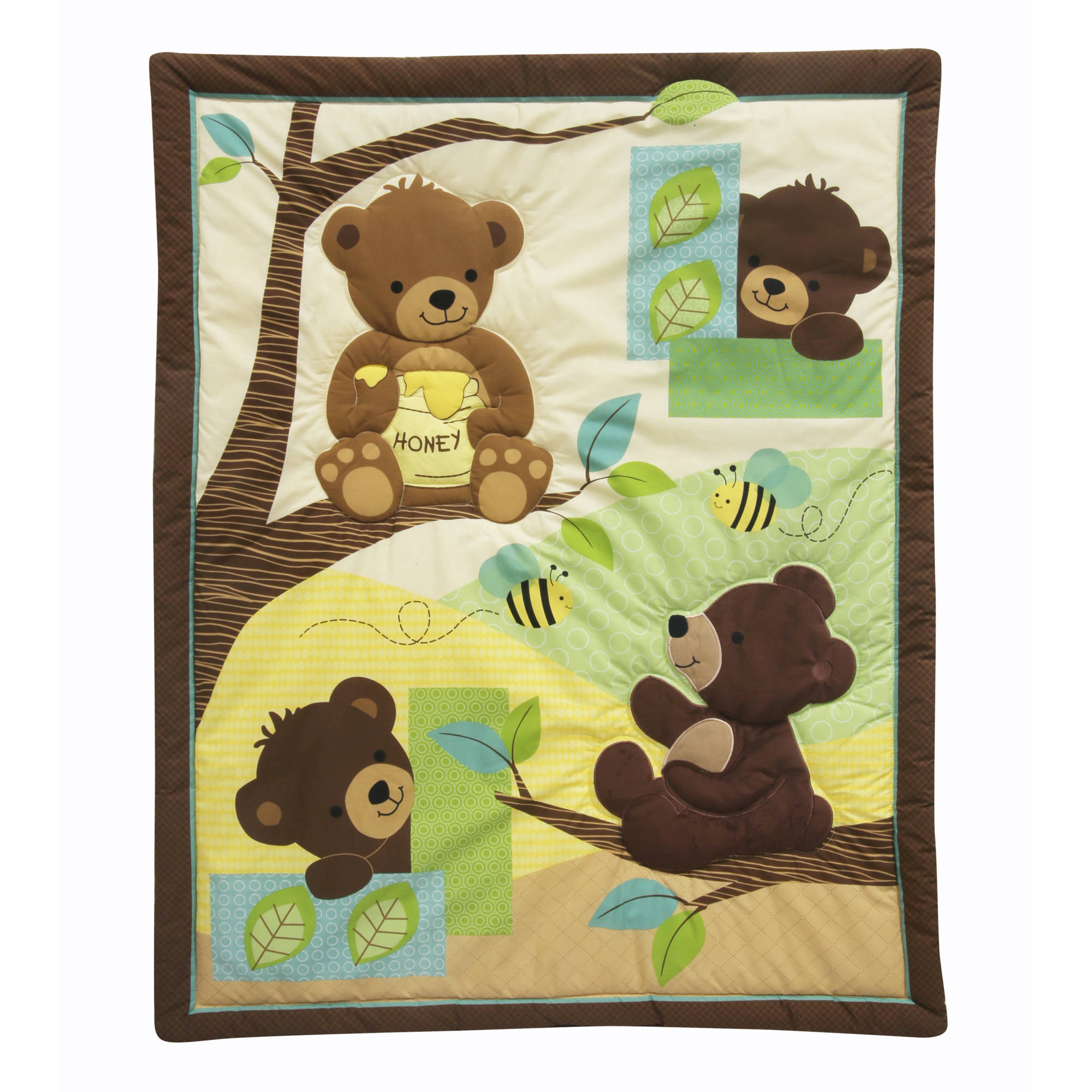 Amazing Lambs U0026 Ivy Bedtime Originals Honey Bear 3 Piece Crib Bedding Set    Walmart.com
