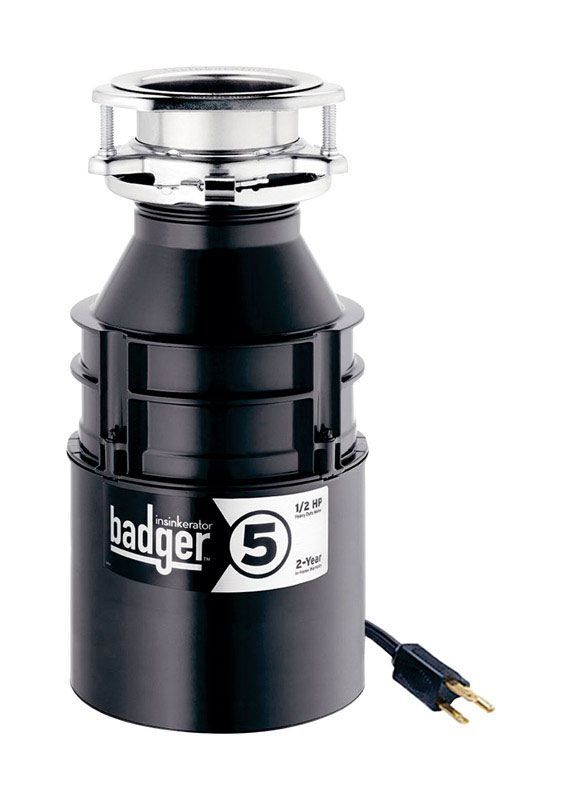 WITH POWER CORD Brand New InSinkerator Badger 1//2 HP //Garbage Disposal 5
