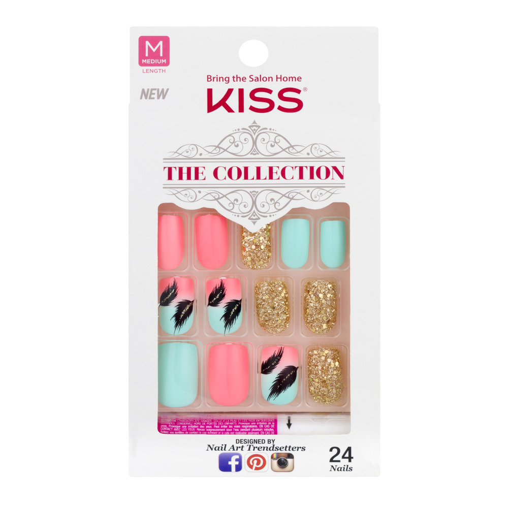 Kiss The Collection Nails Medium Length - 24 CT - Walmart.com