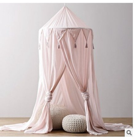 Kid Baby Bed Canopy Bedcover Mosquito Net Curtain Bedding Round Dome Tent Cotton](Bed Canopy Tent)