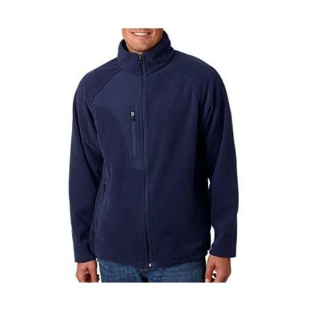 UltraClub 8495 Adult Full-Zip Micro-Fleece Jacket With Pocket - Navy/ Navy - Large - image 1 de 1