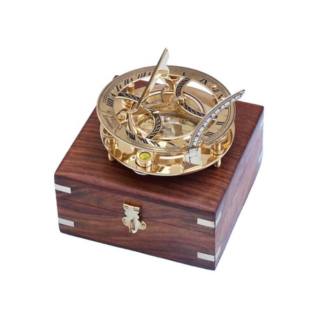 - Brass Round Sundial Compass 6