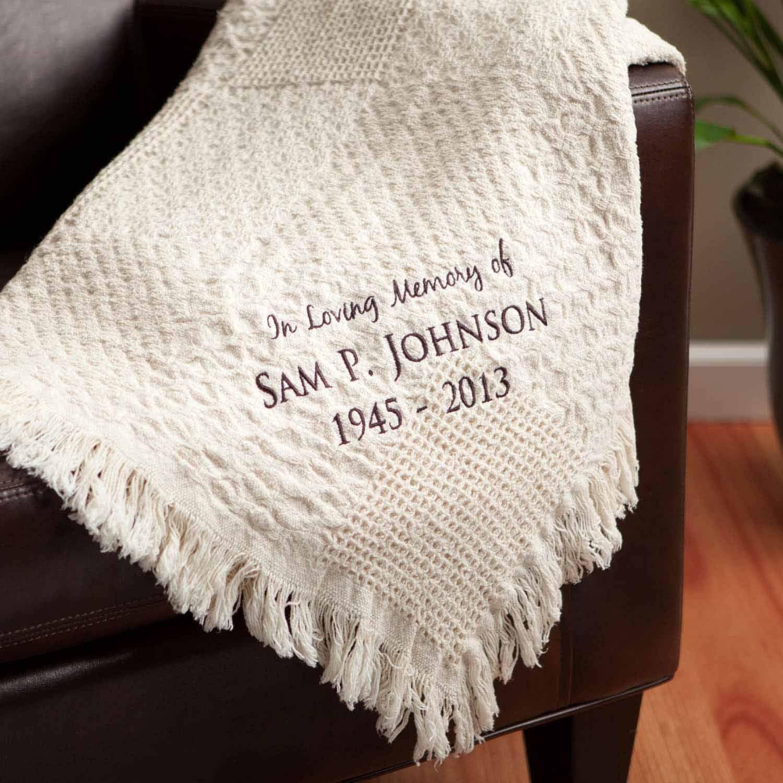 personalized blanket in loving memory memorial throw blanket
