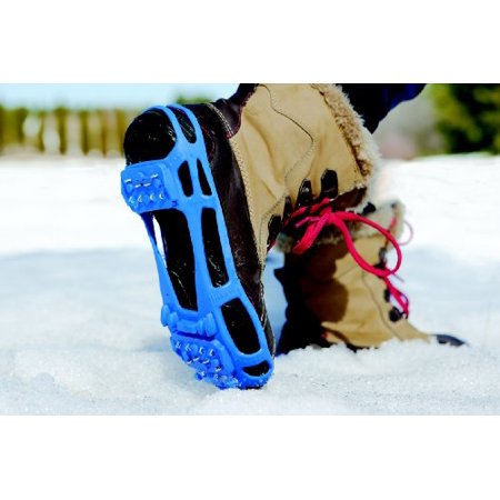 STABILicers Walk Stabilicers Ice Traction Cleat for Snow and Ice - X-Small, Blue - Lite Duty Serious Traction cleats for Boots and Shoe Ice Cleats