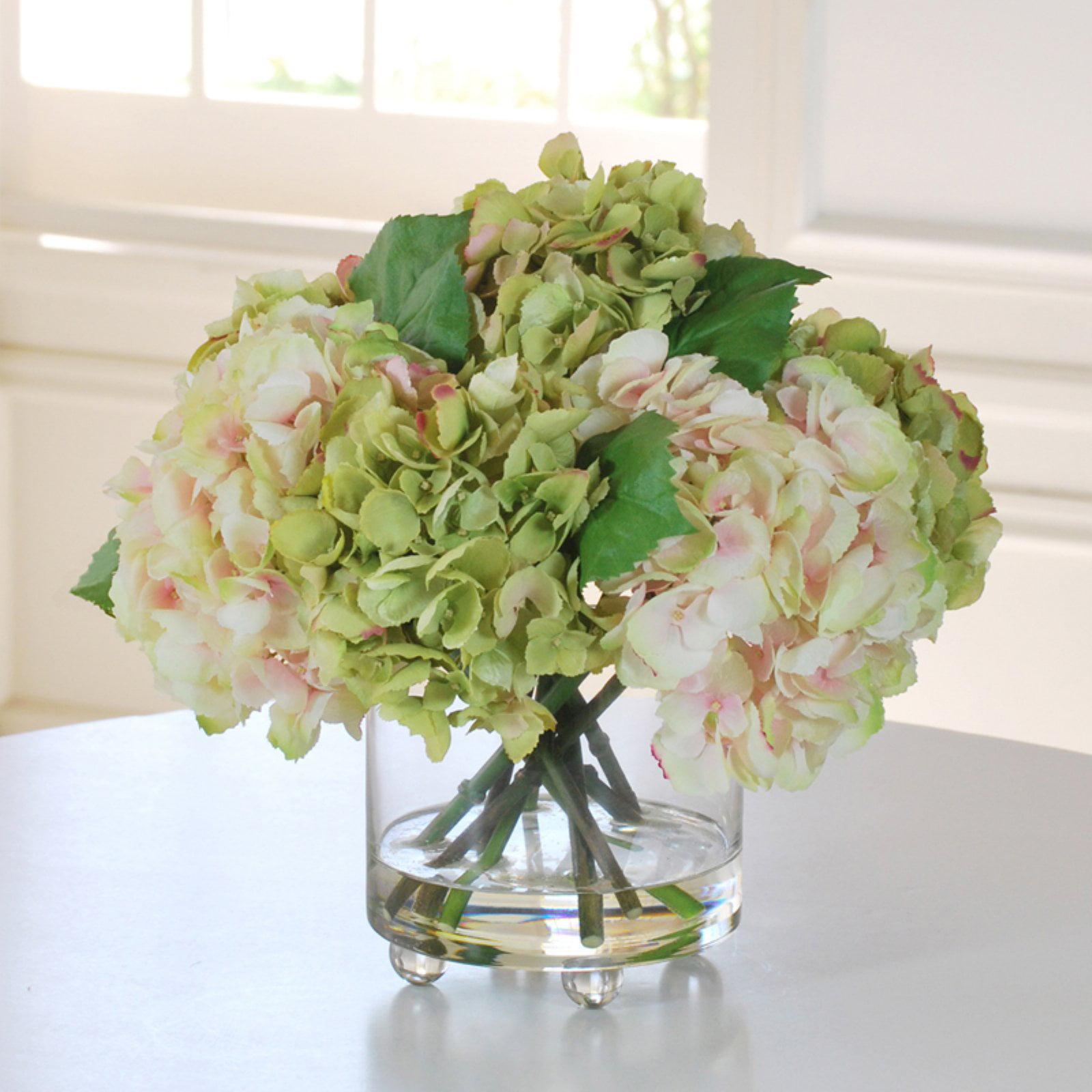 Jane Seymour Lavender Hydrangeas 15H in. Silk Flower Arra...