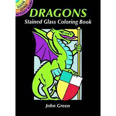 Dragons Stained Glass Coloring Book](Stained Glass Coloring Pages)