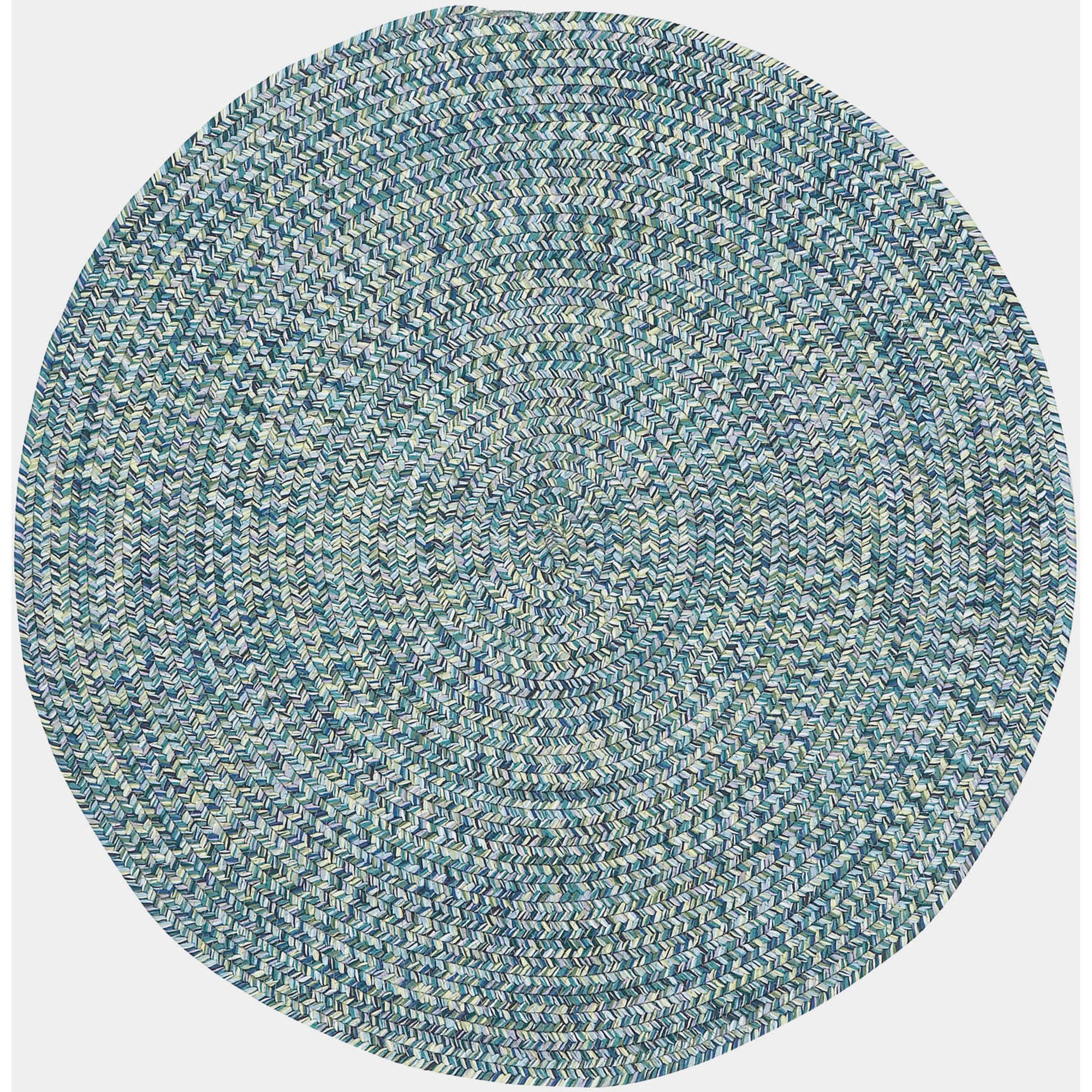 Sea Pottery Round Braided Area Rug
