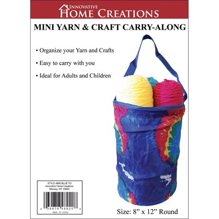 Mini Yarn   Craft Carry Along 8 X12  Blue Tie Dyed