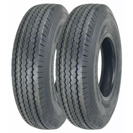 Set of 2 New ZEEMAX Heavy Duty Trailer Tires ST225/90D16 (7.50-16) 10 PR Load Range E - 11070 5 Heavy Duty Steel Tire