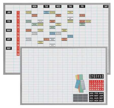 MAGNA VISUAL OB-3648B Magnetic Work/Schedule Kit, 48x36