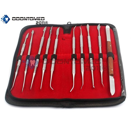 Odontomed2011® Stainless Steel Kit Wax Carving Tool Set For Dental Equipment Wax Carver Odm