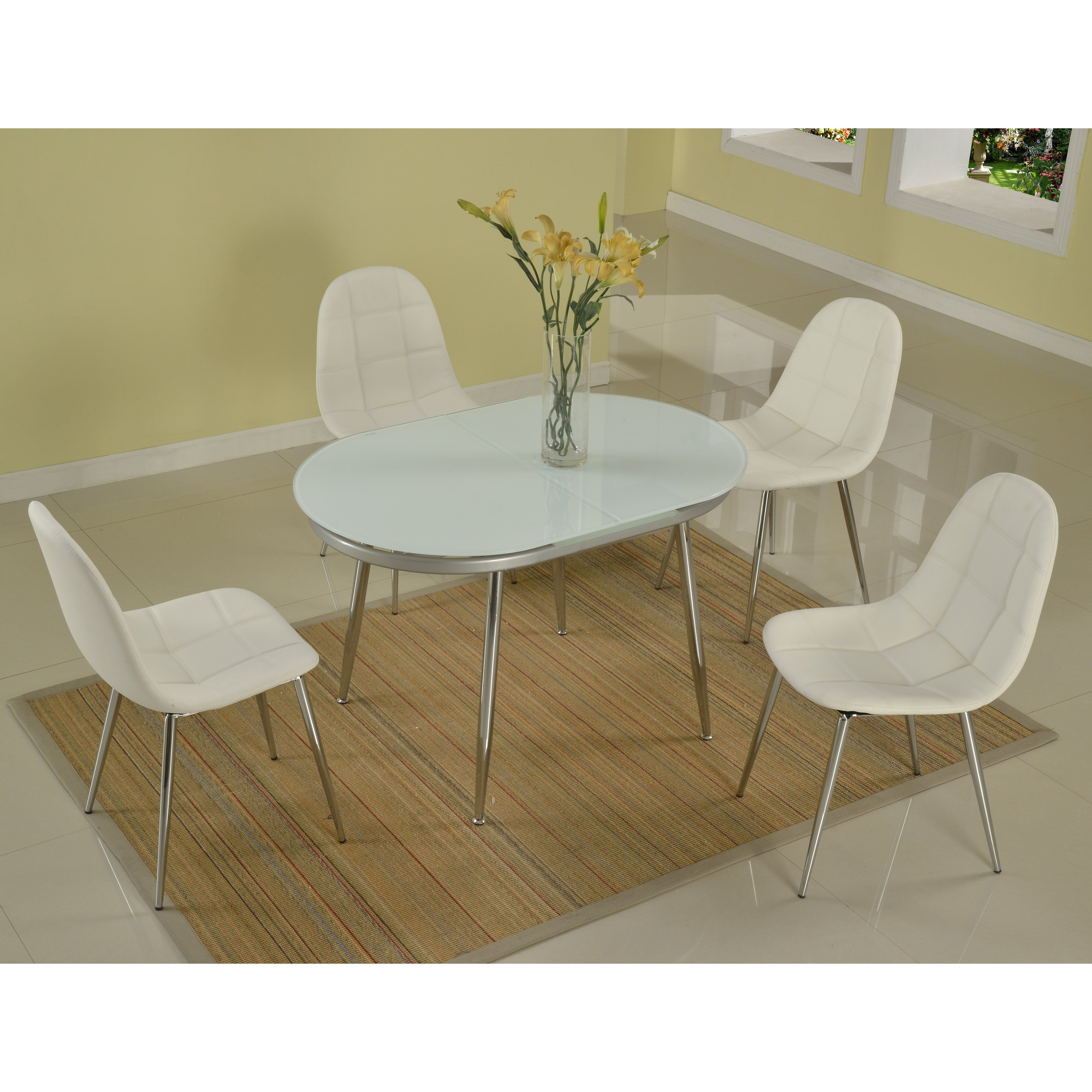 Chintaly Donna 5 Piece Dining Table Set
