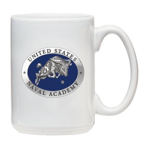 Navy Midshipmen White Coffee Mug Set
