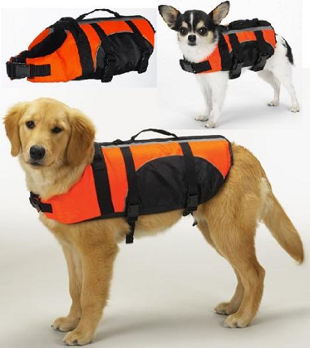 Gear Orange Aquatic Water Safety Pet Preserver Life Vest ...