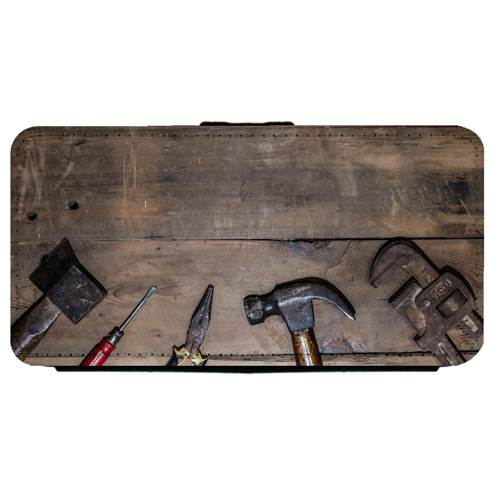 Pleasing Image Of Handy Tools Placed On A Wood Workbench Samsung Galaxy S5 Leather Flip Phone Case Walmart Com Evergreenethics Interior Chair Design Evergreenethicsorg