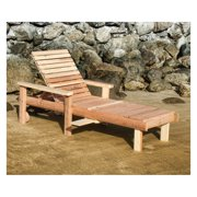 Best Redwood Single Beach Chaise Lounge