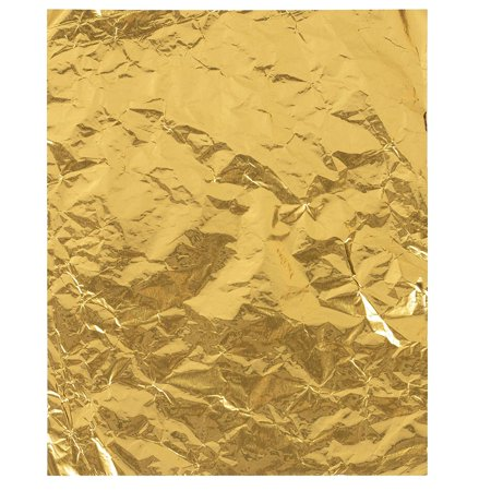 Foil Candy Wrappers - 100-Pack Gold Aluminum Foil Wrapping Paper, 6 x 7.5-Inch Candy Bar Wrappers for Chocolate, Caramel, Sweets, Candy Packaging, Wedding Christmas Party Favors, DIY ()