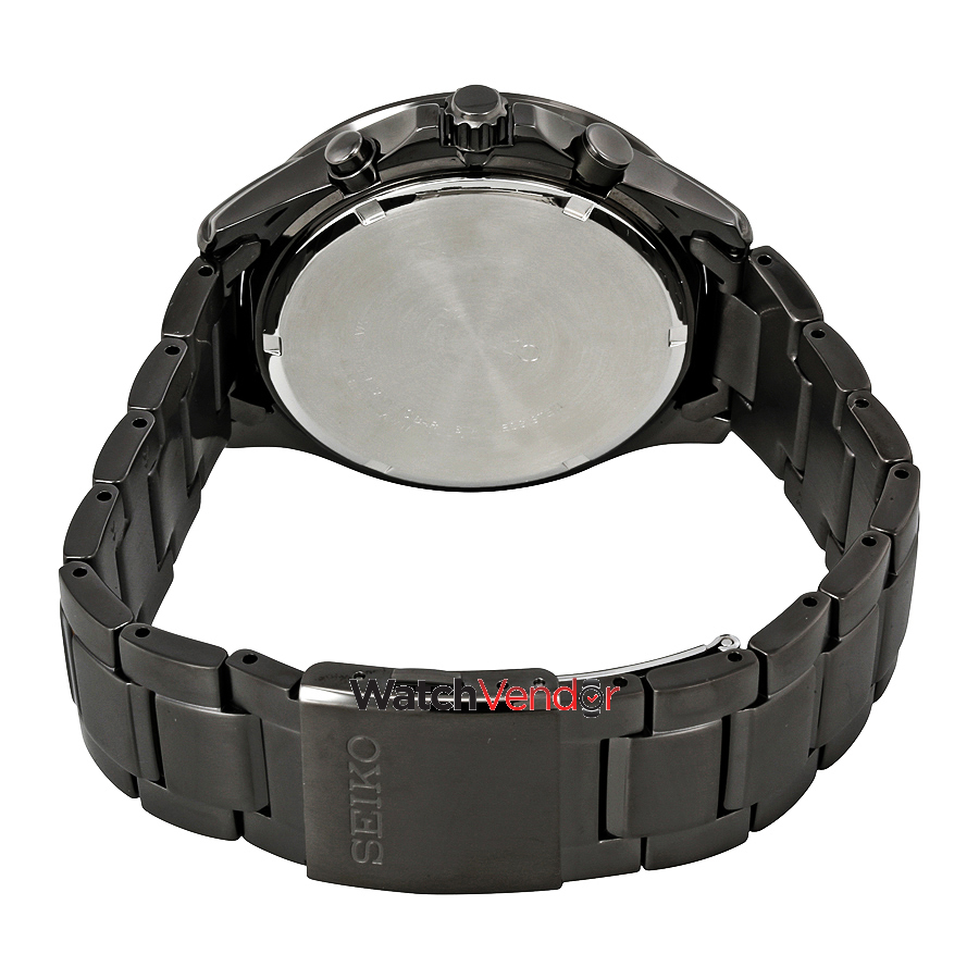Seiko Men's Solar Chronograph SSC497 Black Stainless-Steel Japanese Quartz Fashion Watch - image 2 of 3