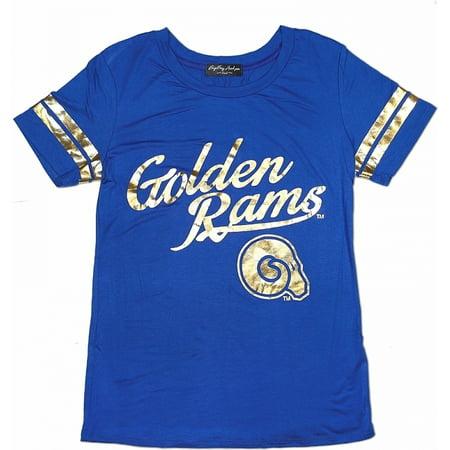 san francisco afe24 9bb14 Big Boy Albany State Golden Rams S2 Ladies Jersey Tee [Royal Blue - XL]